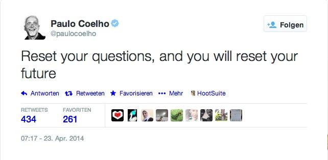 Tweet Paulo Coelho